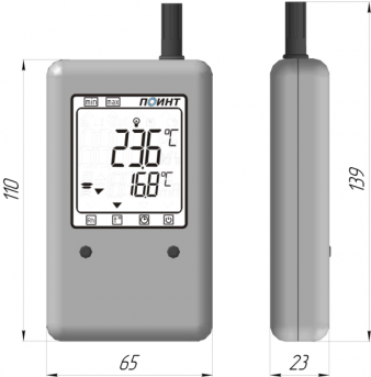 Измеритель температуры и влажности (термогигрометр) ПИ-002/1
