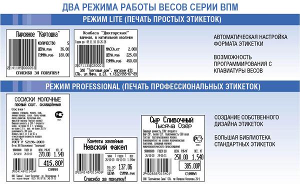 виды печати этикеток Масса-К ВПМ-Ф1