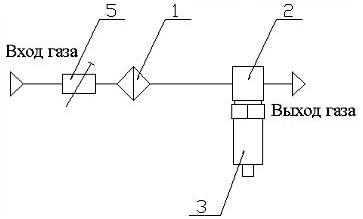 Пневматическая схема ПДВ-4