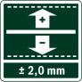 Точность ±2,00 мм