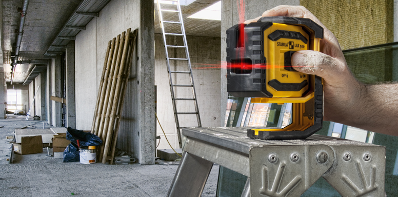 Лазерный прибор с пересекающимися линиями с функцией отвеса LAX 300
