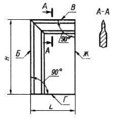 Схема угольника лекального поверочного