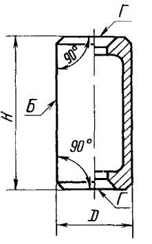 Схема угольника лекального цилиндрического
