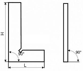 Схема угольника поверочного слесарного